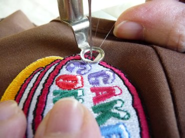 sewing-patch-on
