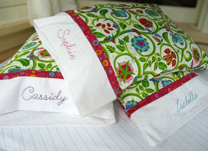 The mystery of the embroidered pillowcases for White craft pillow cases